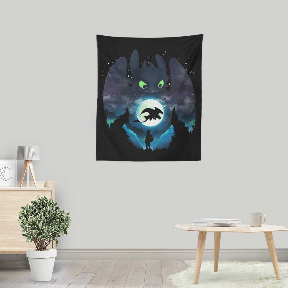 Dragon Sunset - Wall Tapestry