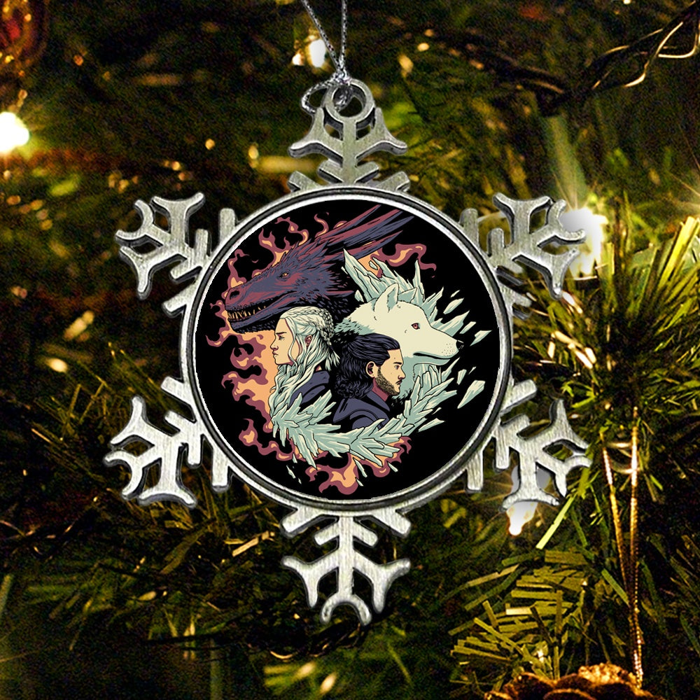 Dragons and Wolves - Ornament
