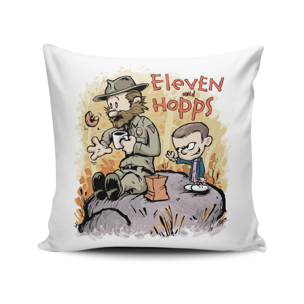 Eleven and Hopps - Throw Pillow
