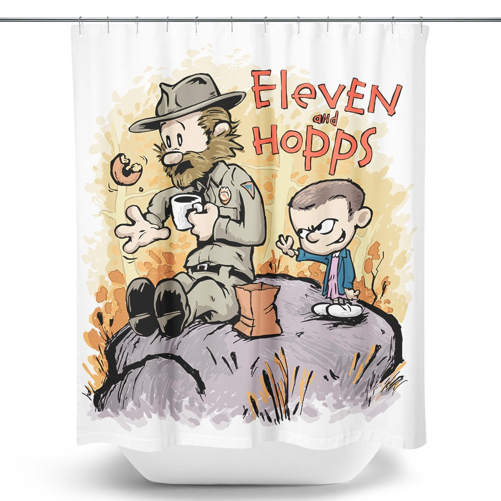 Eleven and Hopps - Shower Curtain