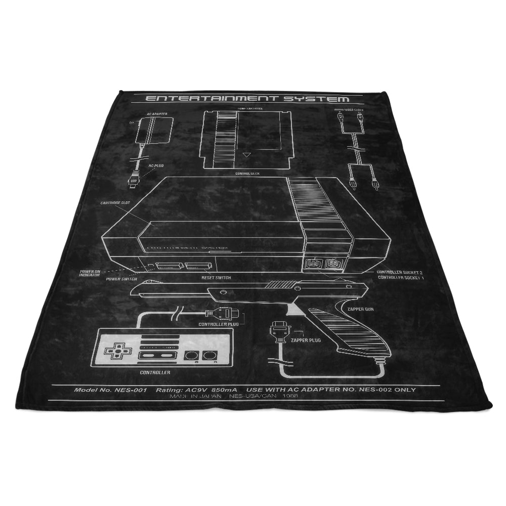 Entertainment System - Fleece Blanket