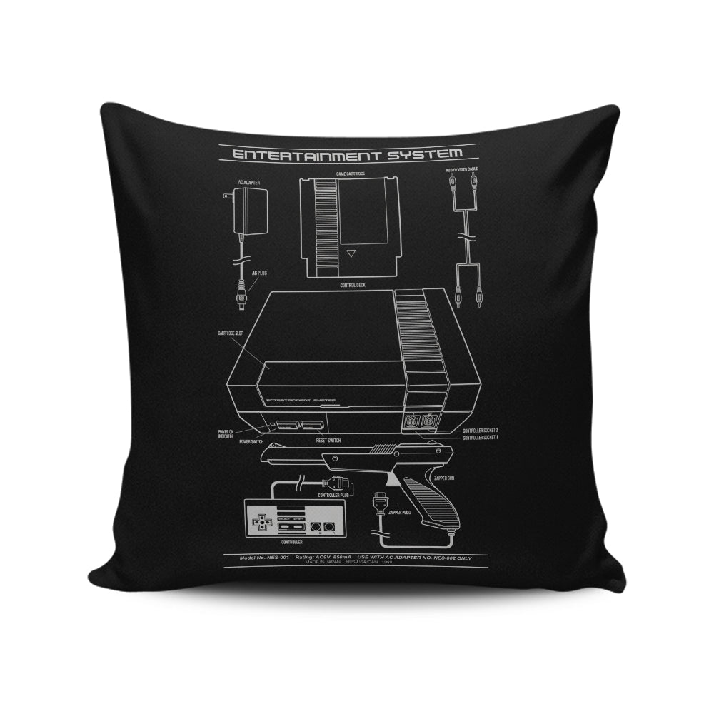 Entertainment System - Throw Pillow