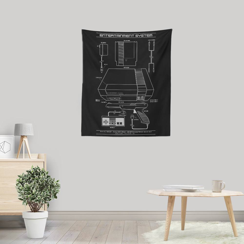 Entertainment System - Wall Tapestry