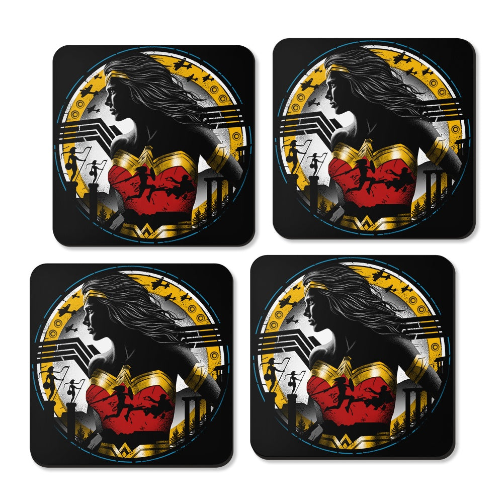 Fiercest Of Them All Coasters Once Upon A Tee - Coasters with photos on them