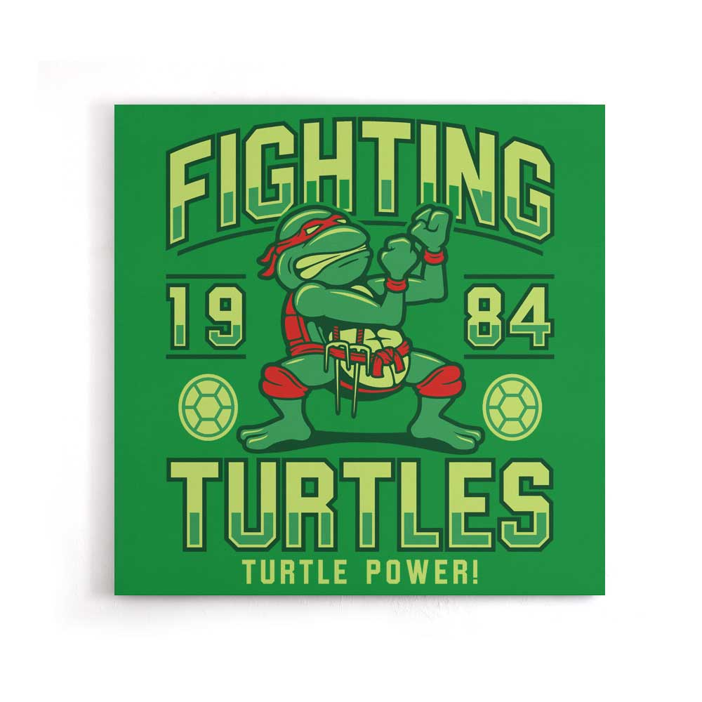 Fighting Turtles - Canvas Print