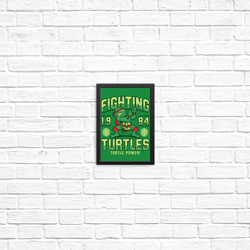 Fighting Turtles - Posters & Prints
