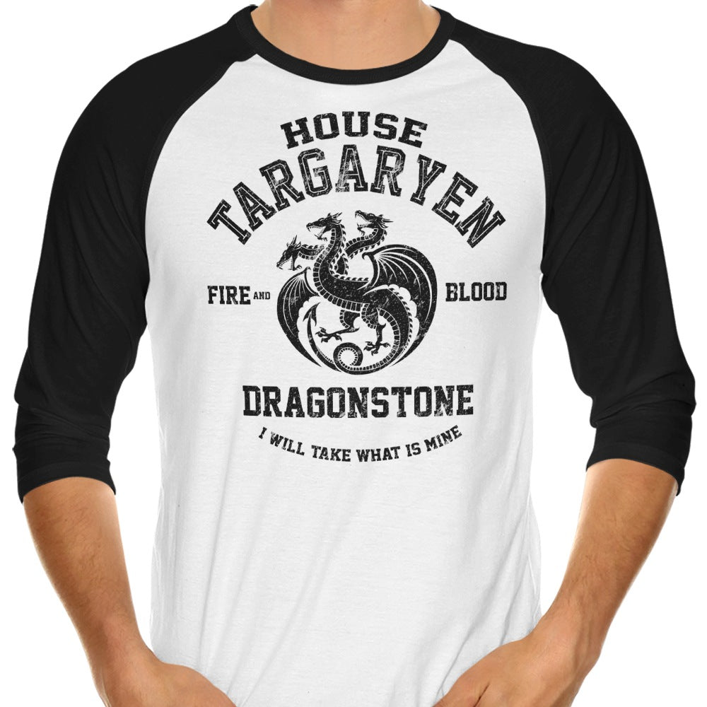 Fire and Blood (Alt) - 3/4 Sleeve Raglan T-Shirt