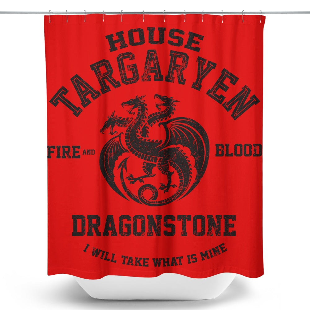Fire and Blood (Alt) - Shower Curtain