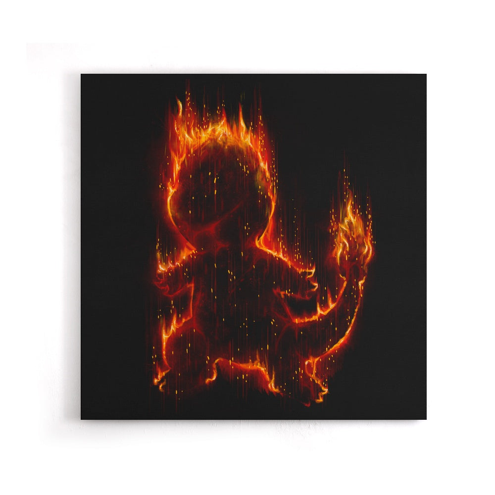 Fire Type - Canvas Print