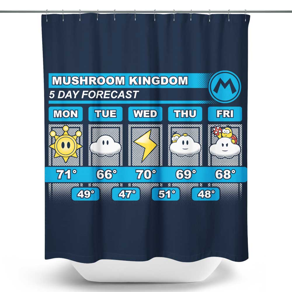 Five Day Forecast - Shower Curtain