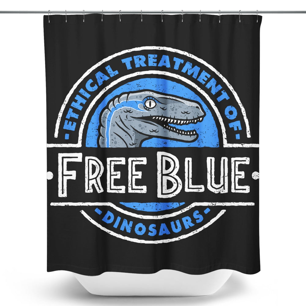 Free Blue - Shower Curtain | Once Upon a Tee
