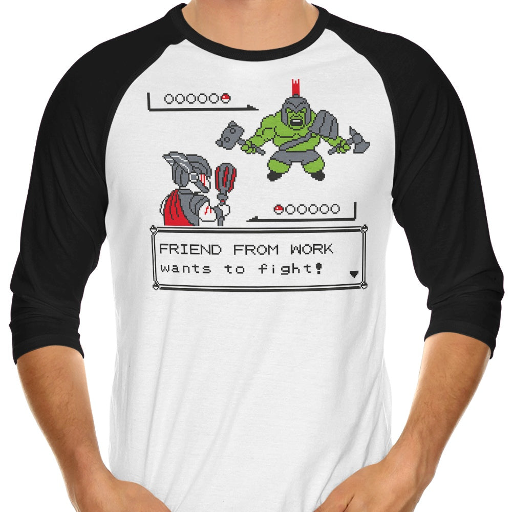 Friendly Foe - 3/4 Sleeve Raglan T-Shirt
