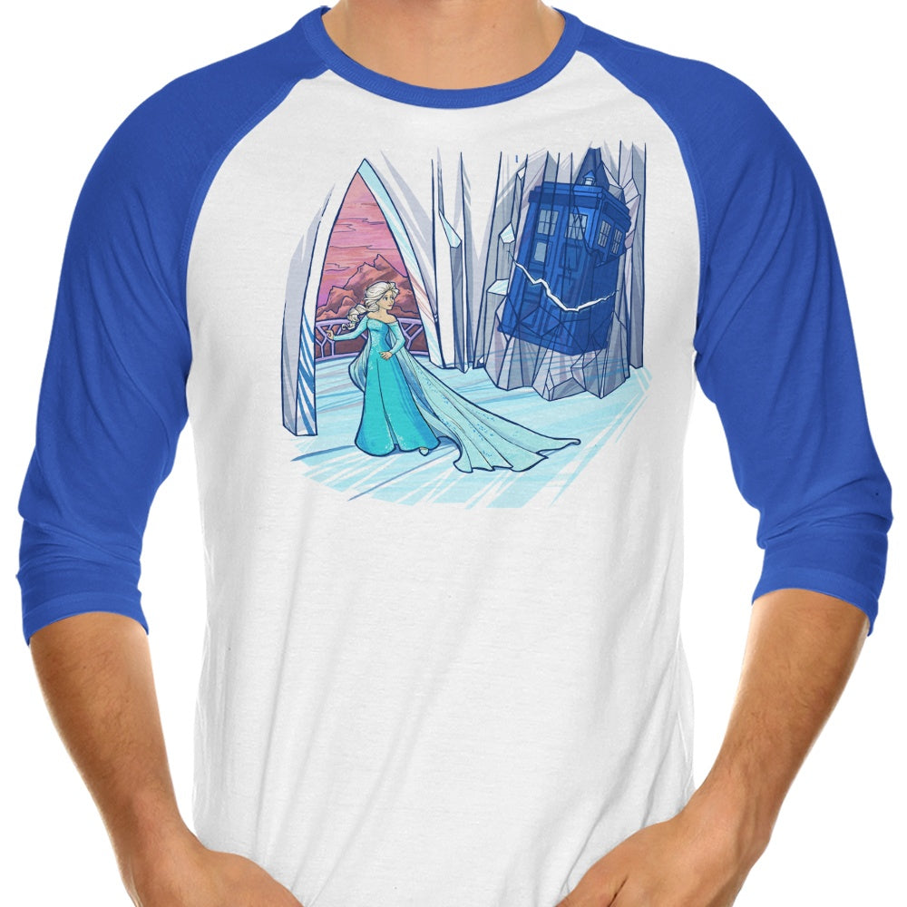 Frozen in Space and Time - 3/4 Sleeve Raglan T-Shirt