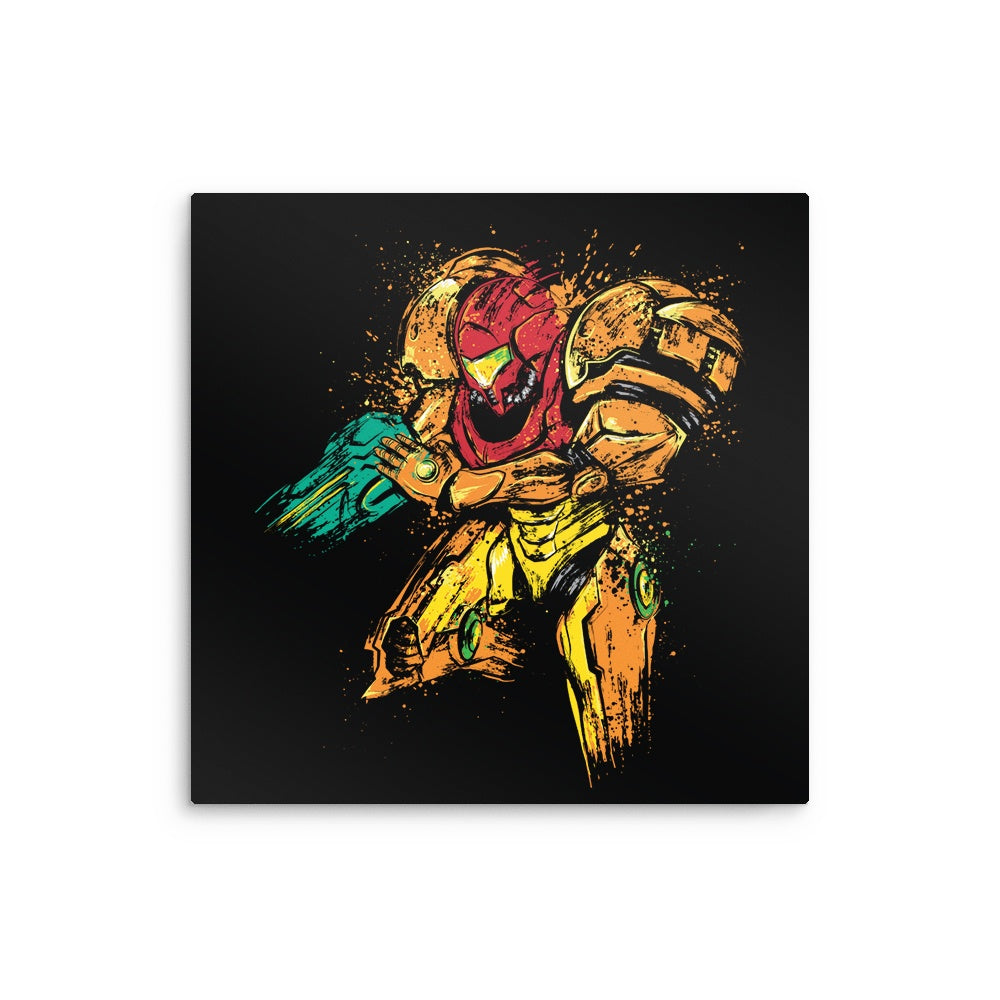 Galactic Bounty Hunter - Metal Print