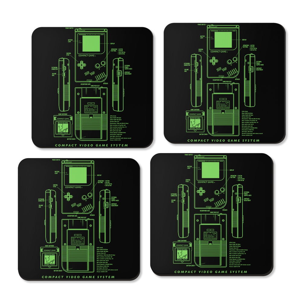Game Kid - Coasters