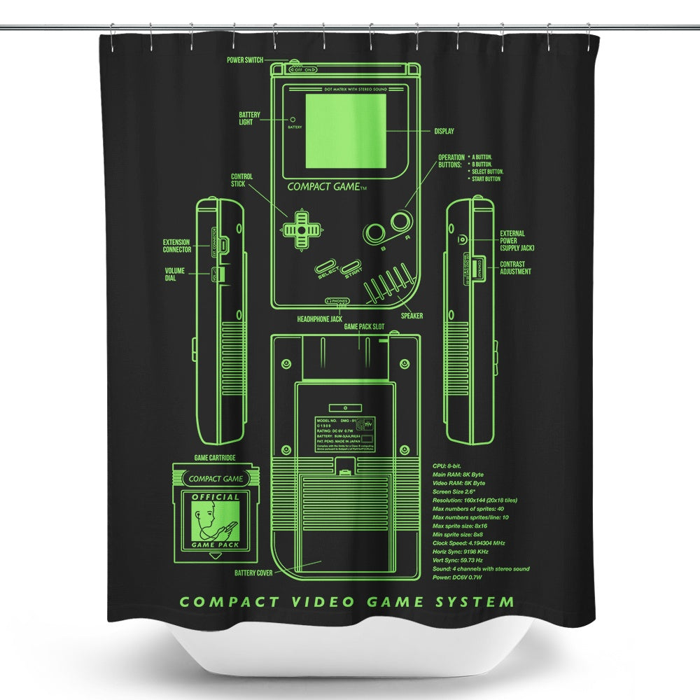 Game Kid - Shower Curtain