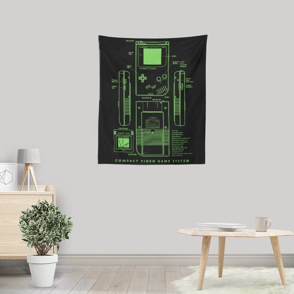 Game Kid - Wall Tapestry