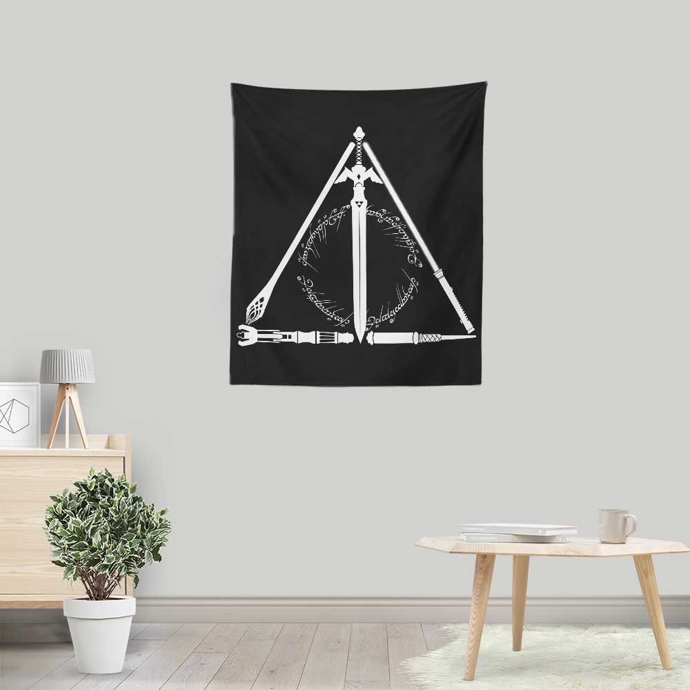 Geeky Hallows - Wall Tapestry