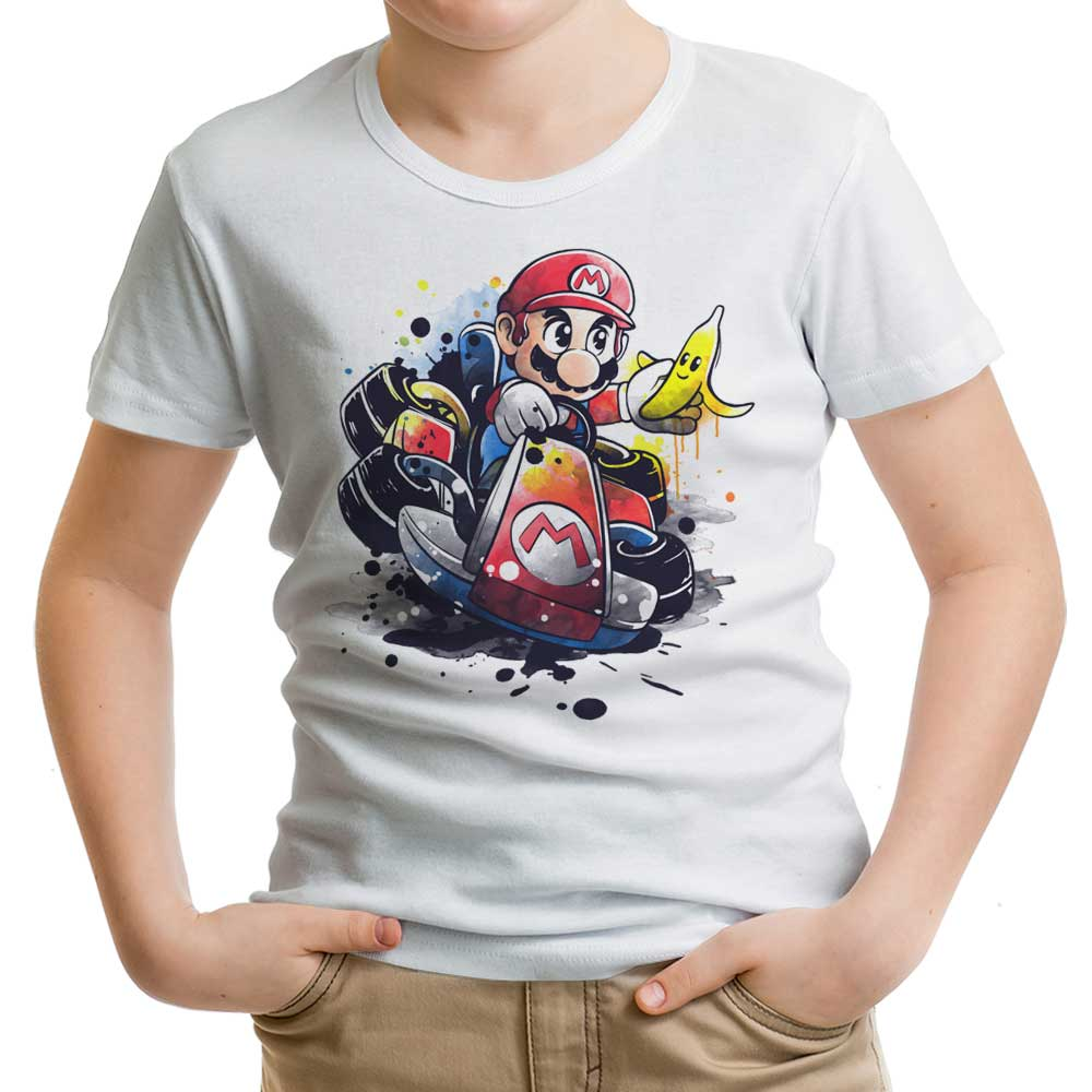 Go Kart Watercolor - Youth Apparel