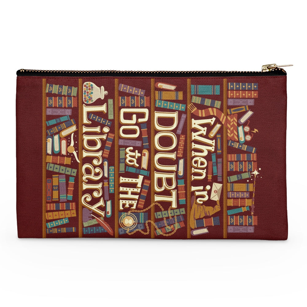 Go to the Library - Accessory Pouch