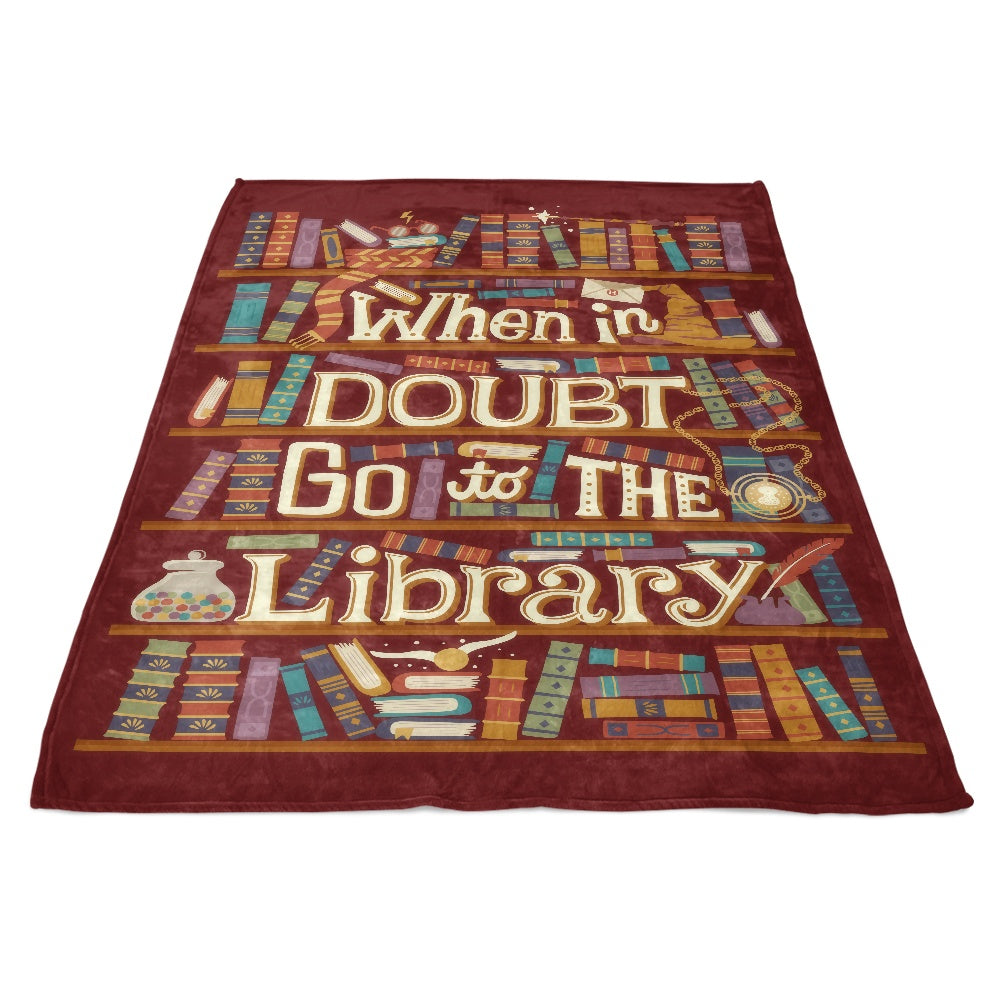 Go to the Library - Fleece Blanket