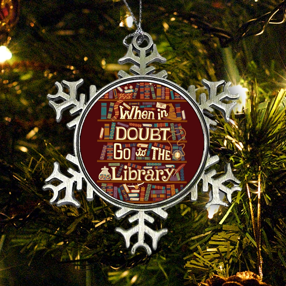 Go to the Library - Ornament