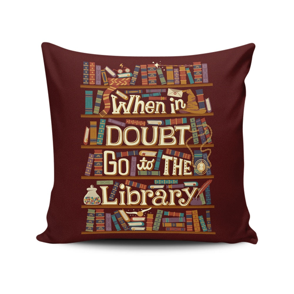 Go to the Library - Throw Pillow
