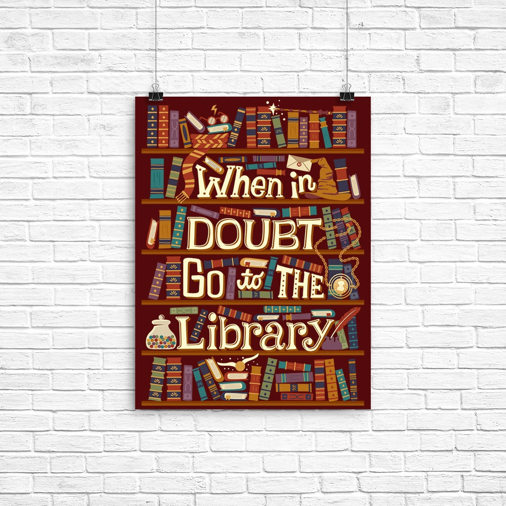 Go to the Library - Poster