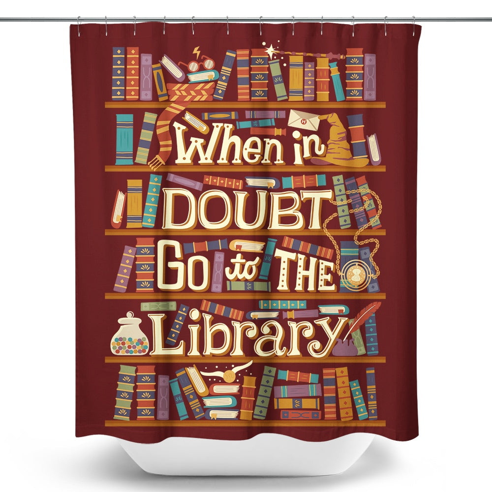 Go to the Library - Shower Curtain