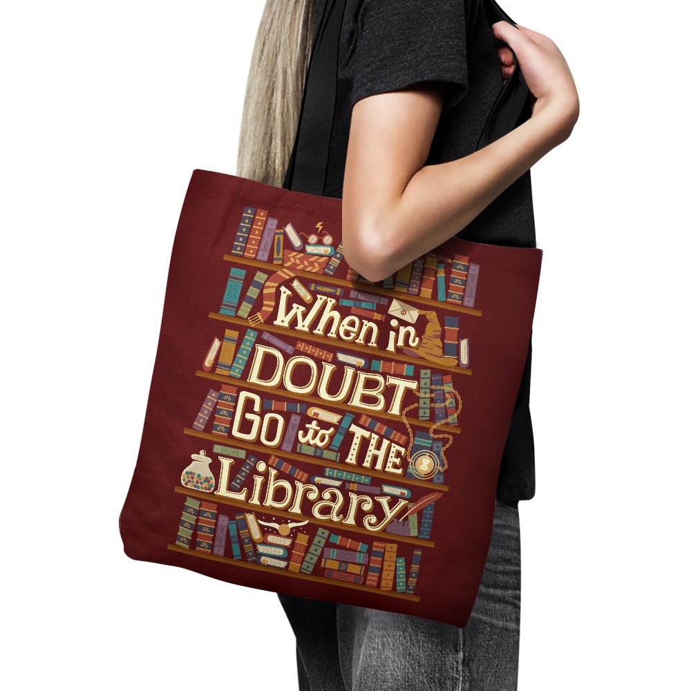 Go to the Library - Tote Bag