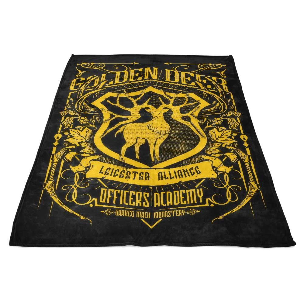 Golden Deer Officers - Fleece Blanket