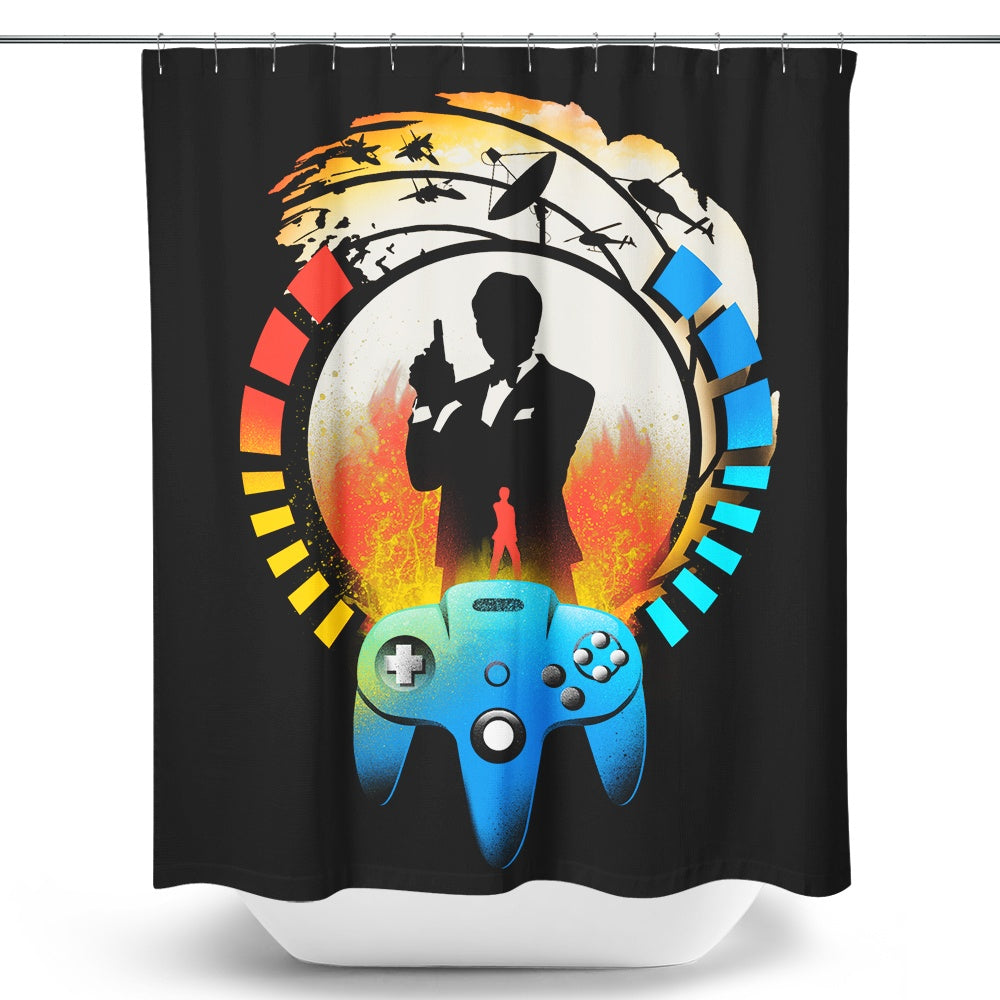Golden Gun 64 - Shower Curtain