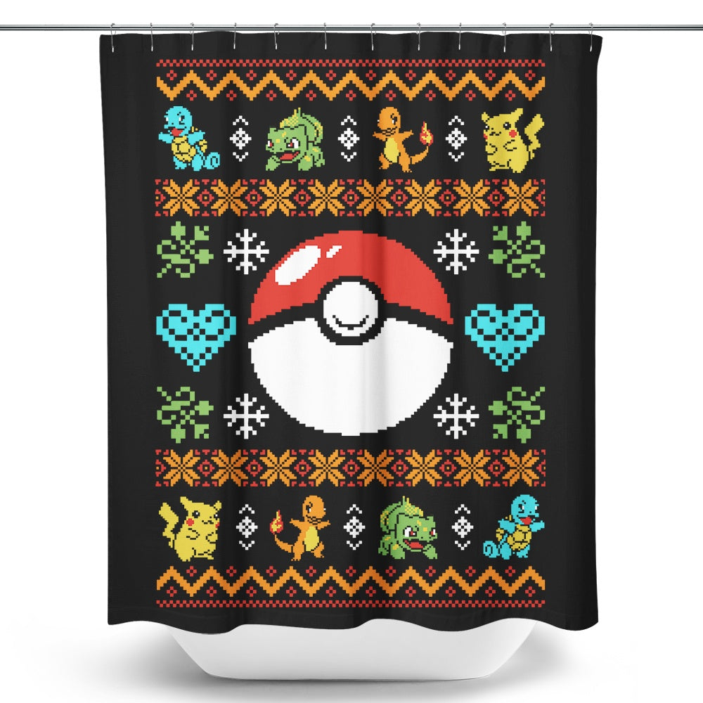 Gotta Stitch 'em All - Shower Curtain
