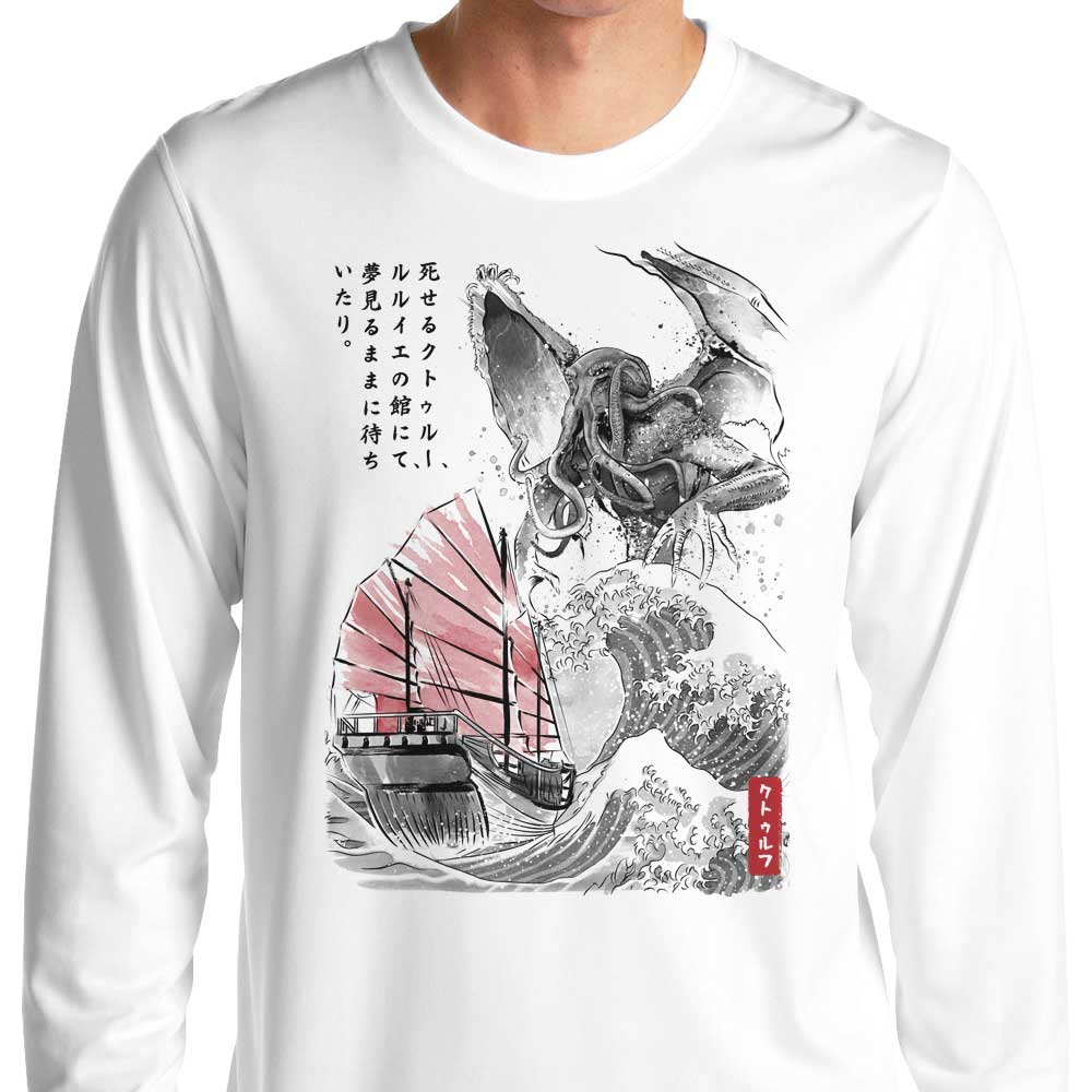 Great Old One Sumi-e - Long Sleeve T-Shirt