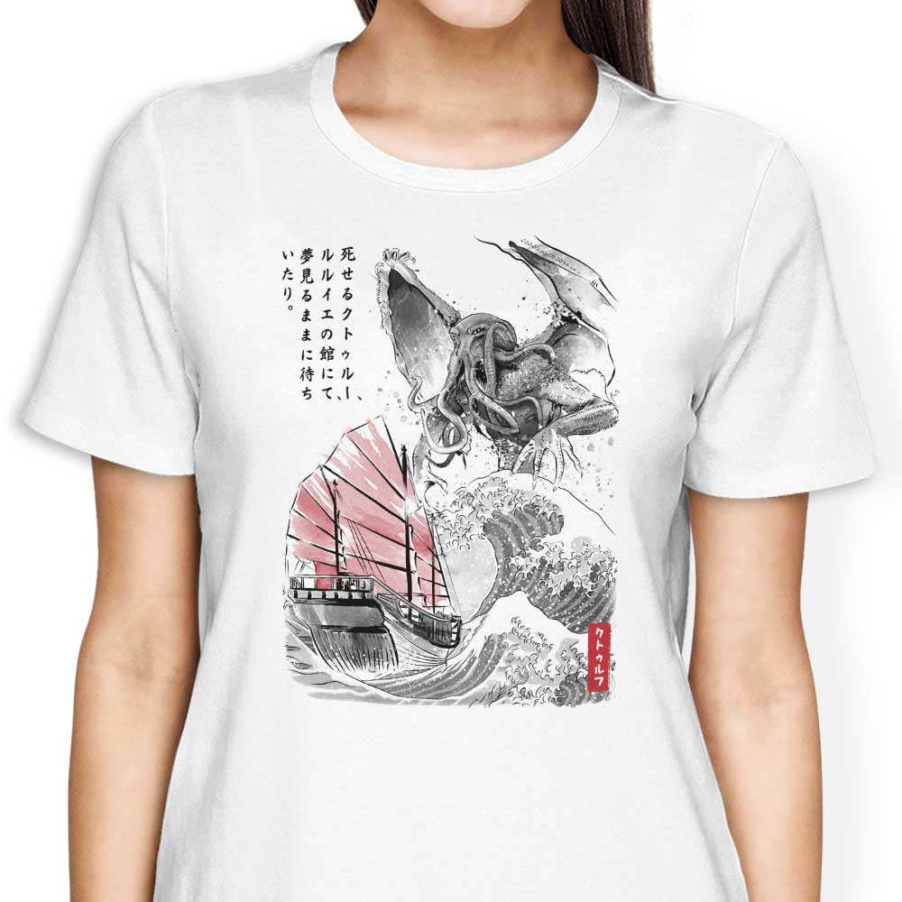 Great Old One Sumi-e - Women's Apparel