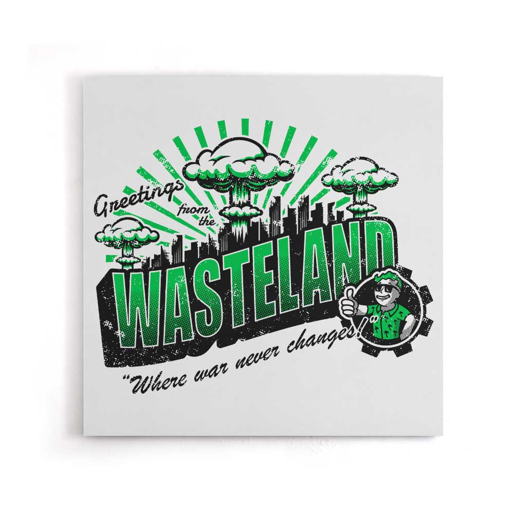 Greetings from the Wasteland - Canvas Print