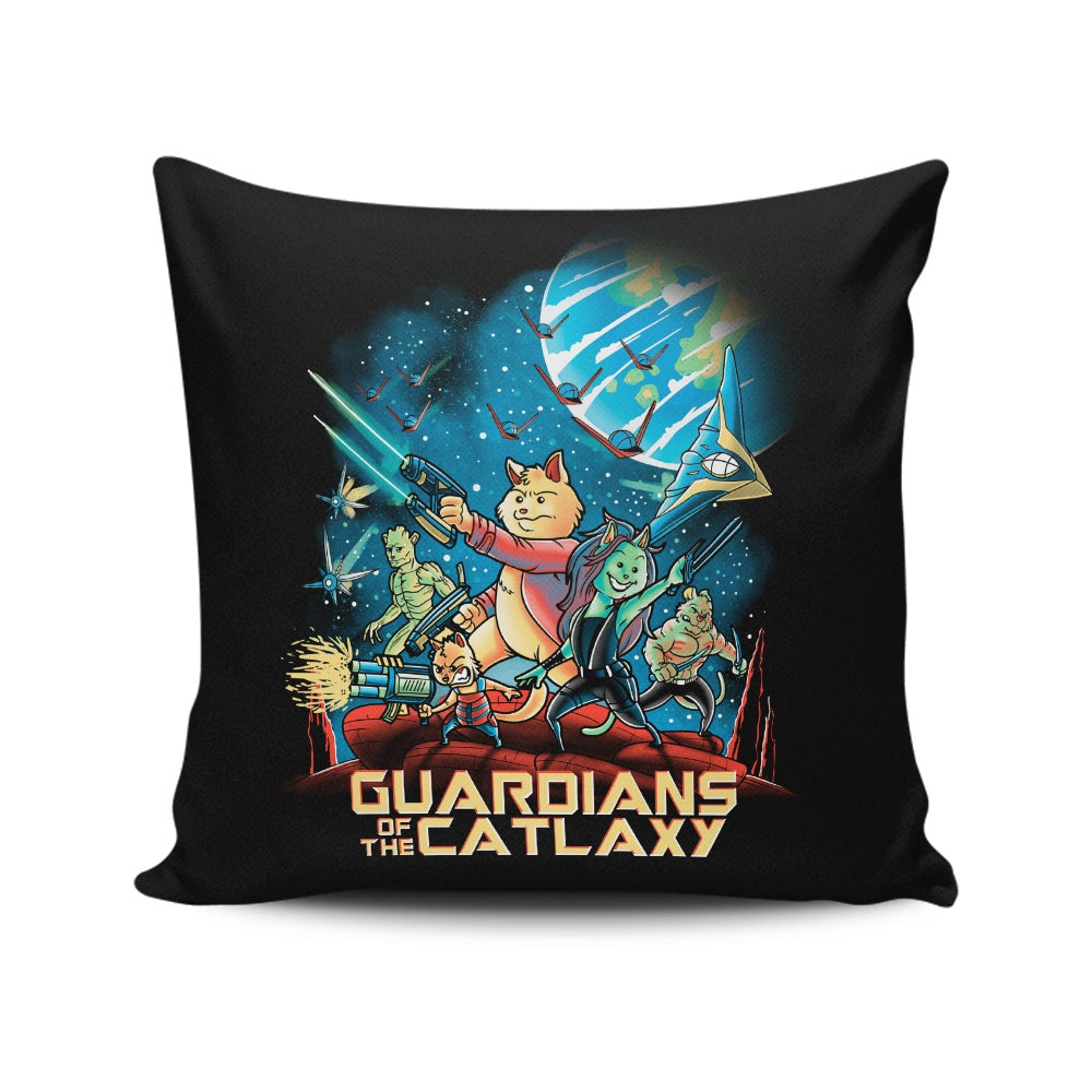 Guardians of the Catlaxy - Throw Pillow