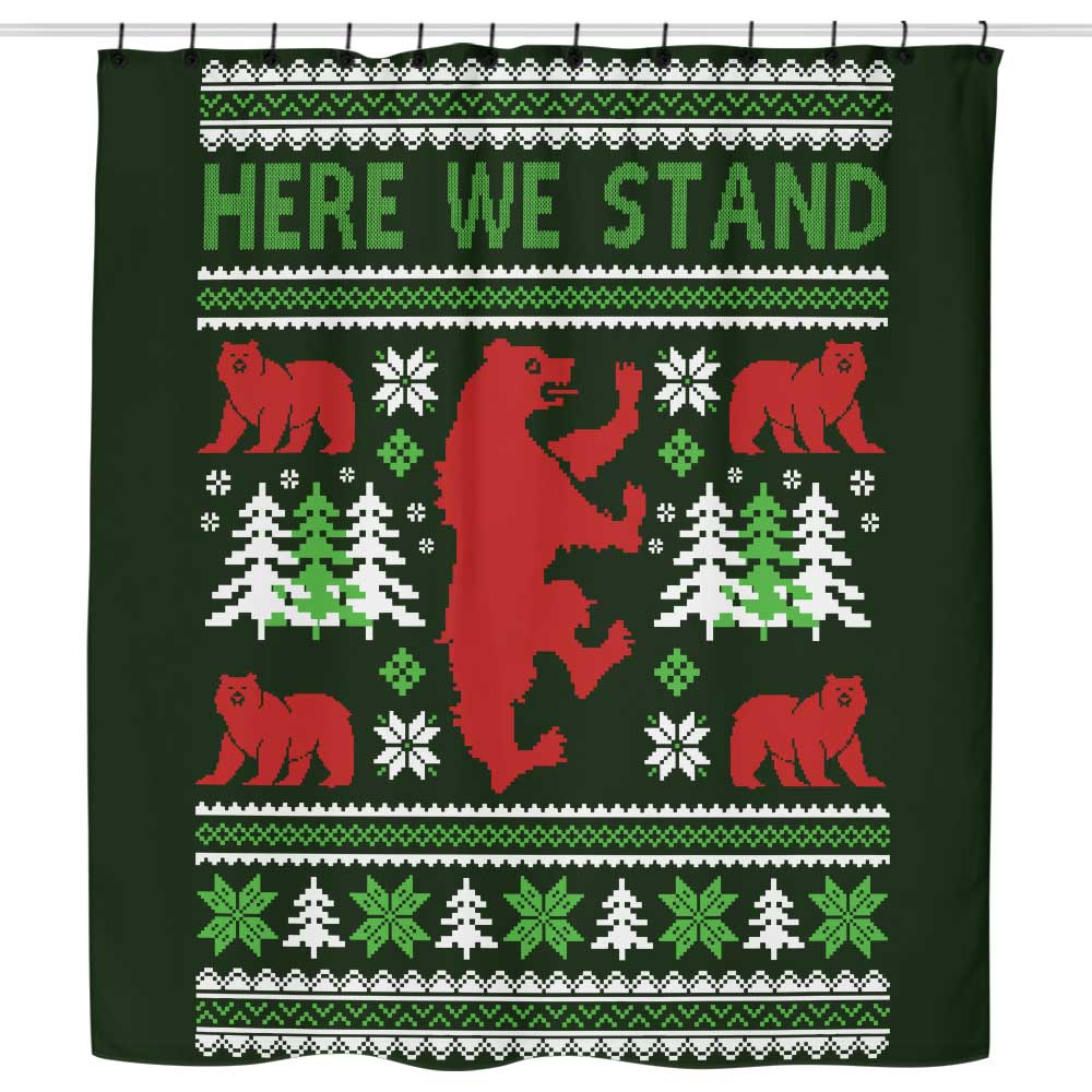 Here We Knit - Shower Curtain