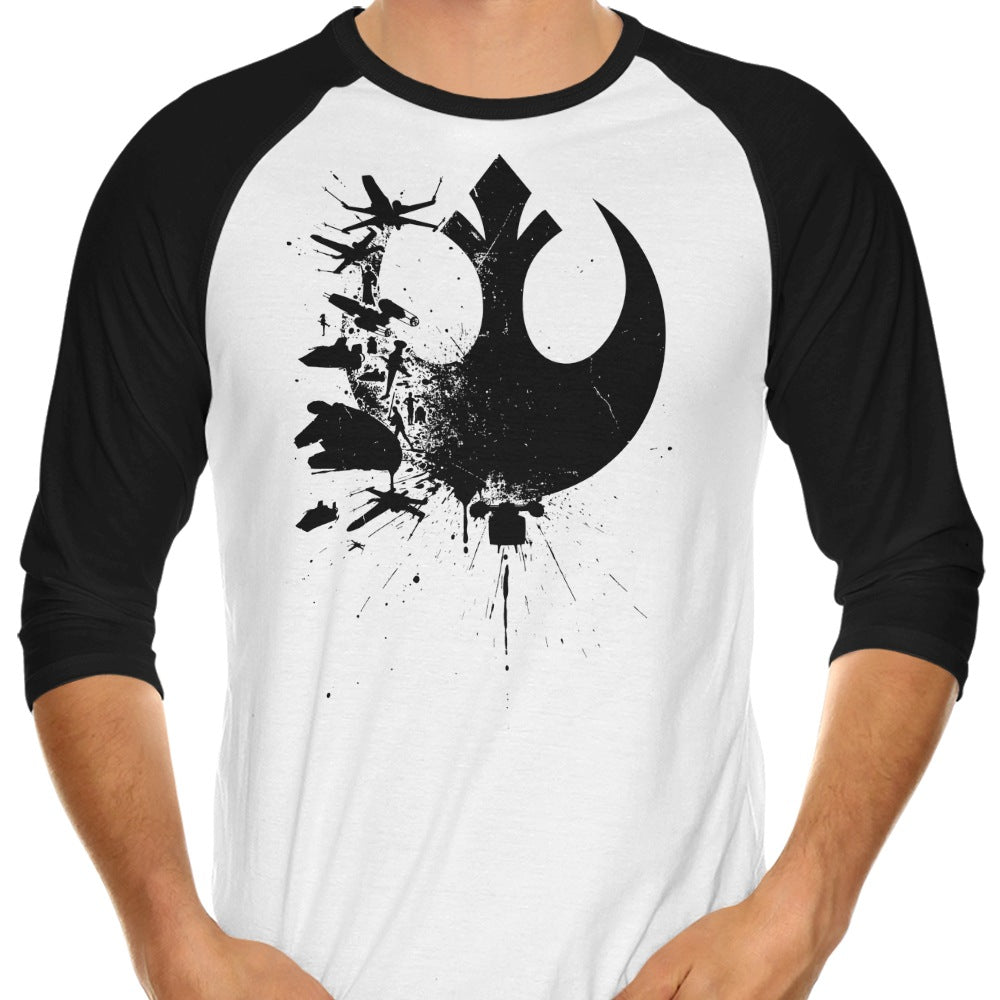 Heroes of the Rebellion (Alt) - 3/4 Sleeve Raglan T-Shirt