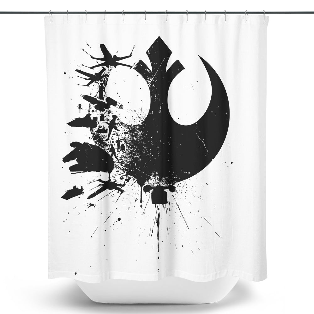 Heroes of the Rebellion (Alt) - Shower Curtain