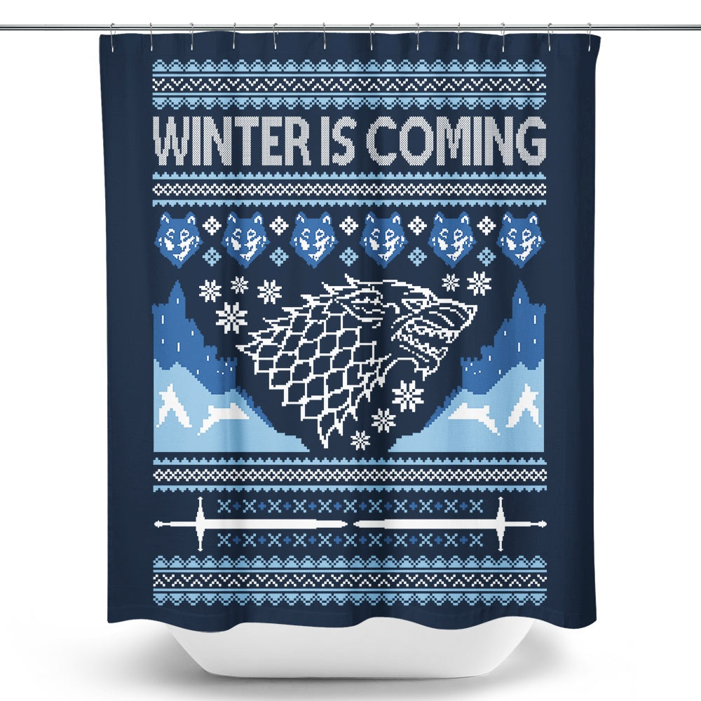 Holidays are Coming (Alt) - Shower Curtain