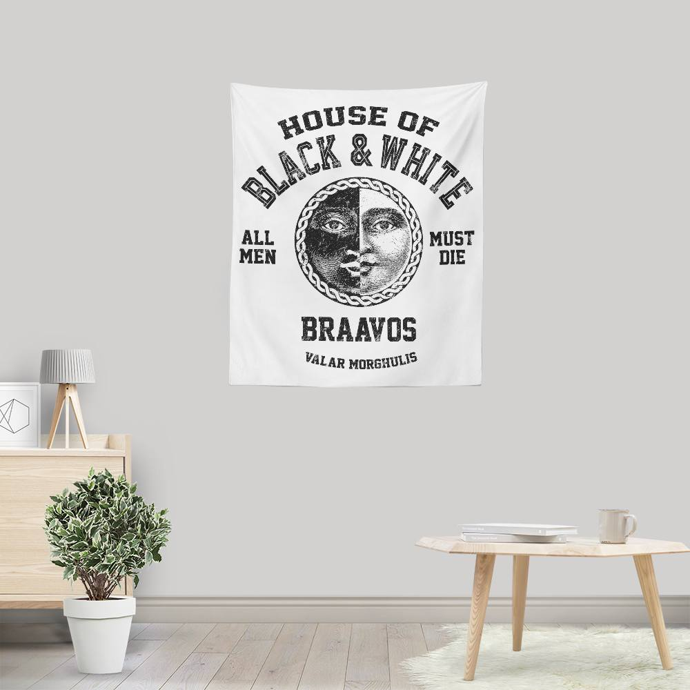 House of Black and White (Alt) - Wall Tapestry