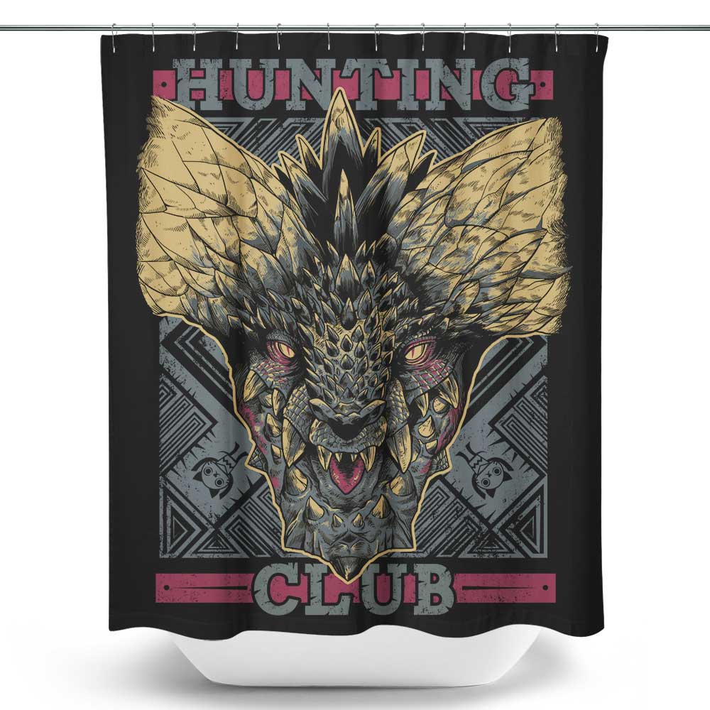 Hunting Club: Nergigante - Shower Curtain | Once Upon a Tee