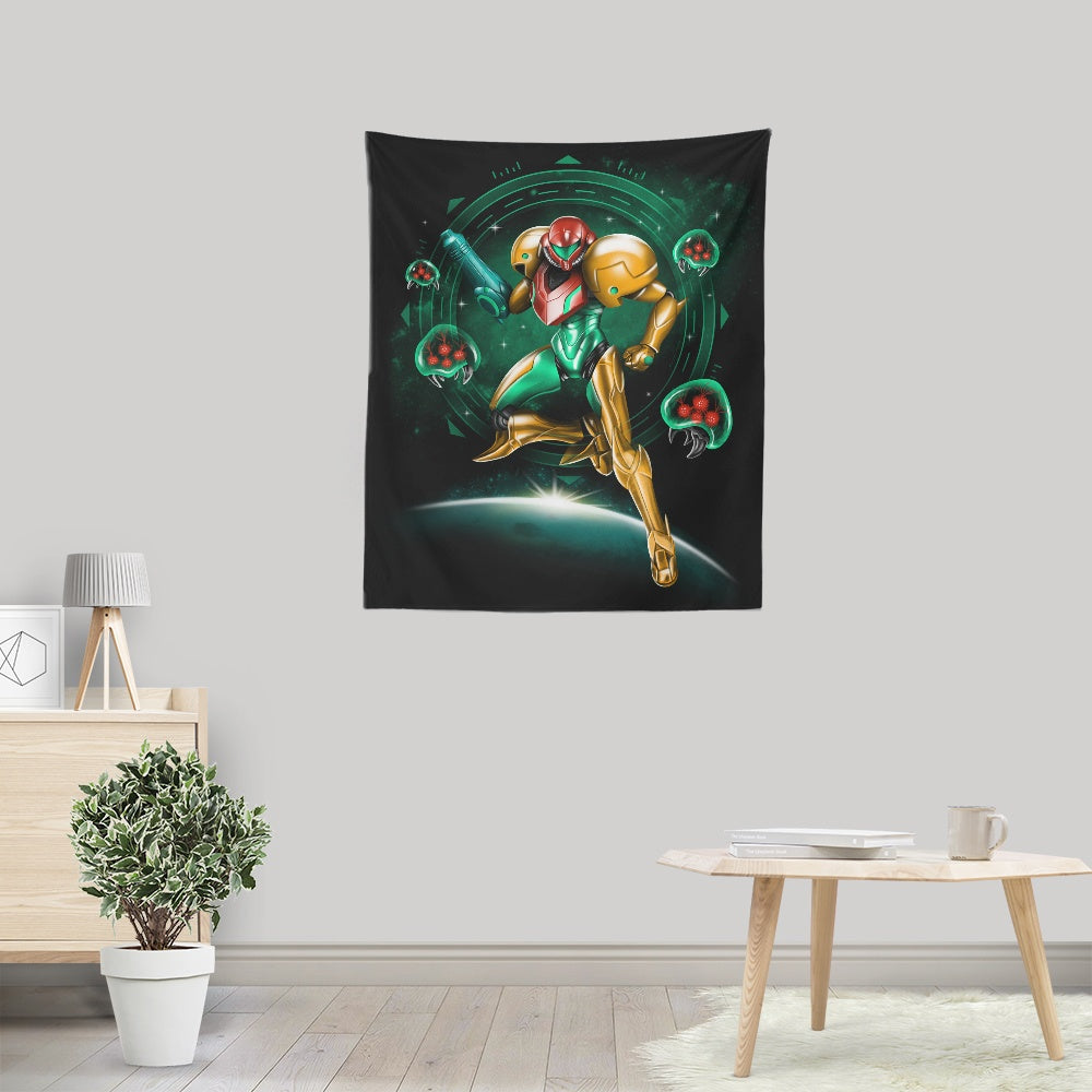 Hunting in Space - Wall Tapestry