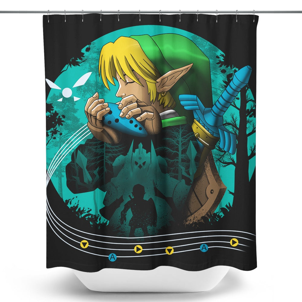 Hyrule Time Traveler - Shower Curtain