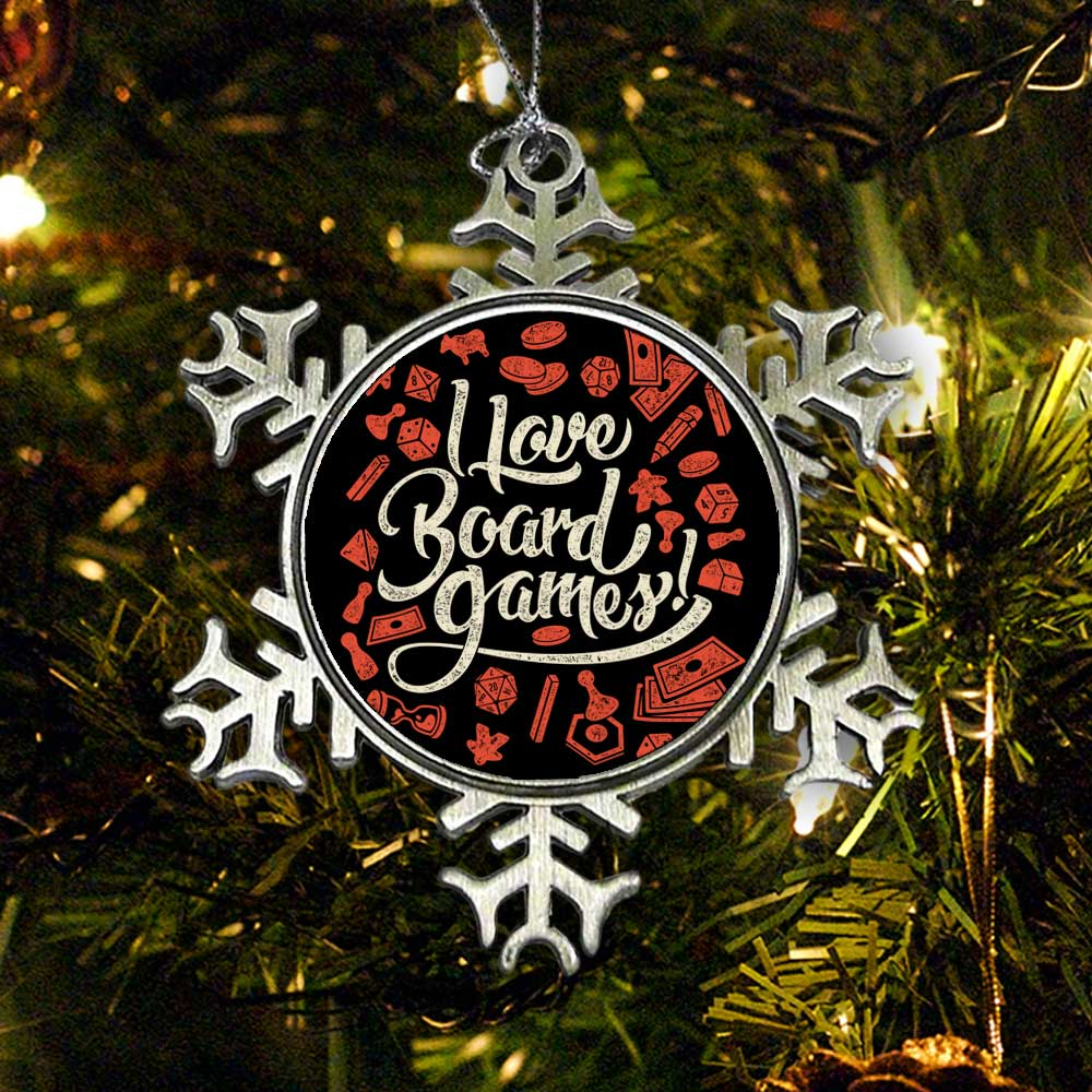 I Love Board Games - Ornament