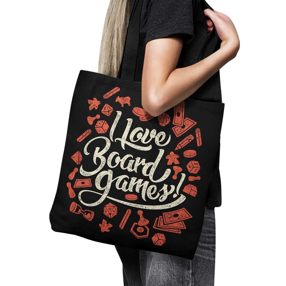 I Love Board Games - Tote Bag