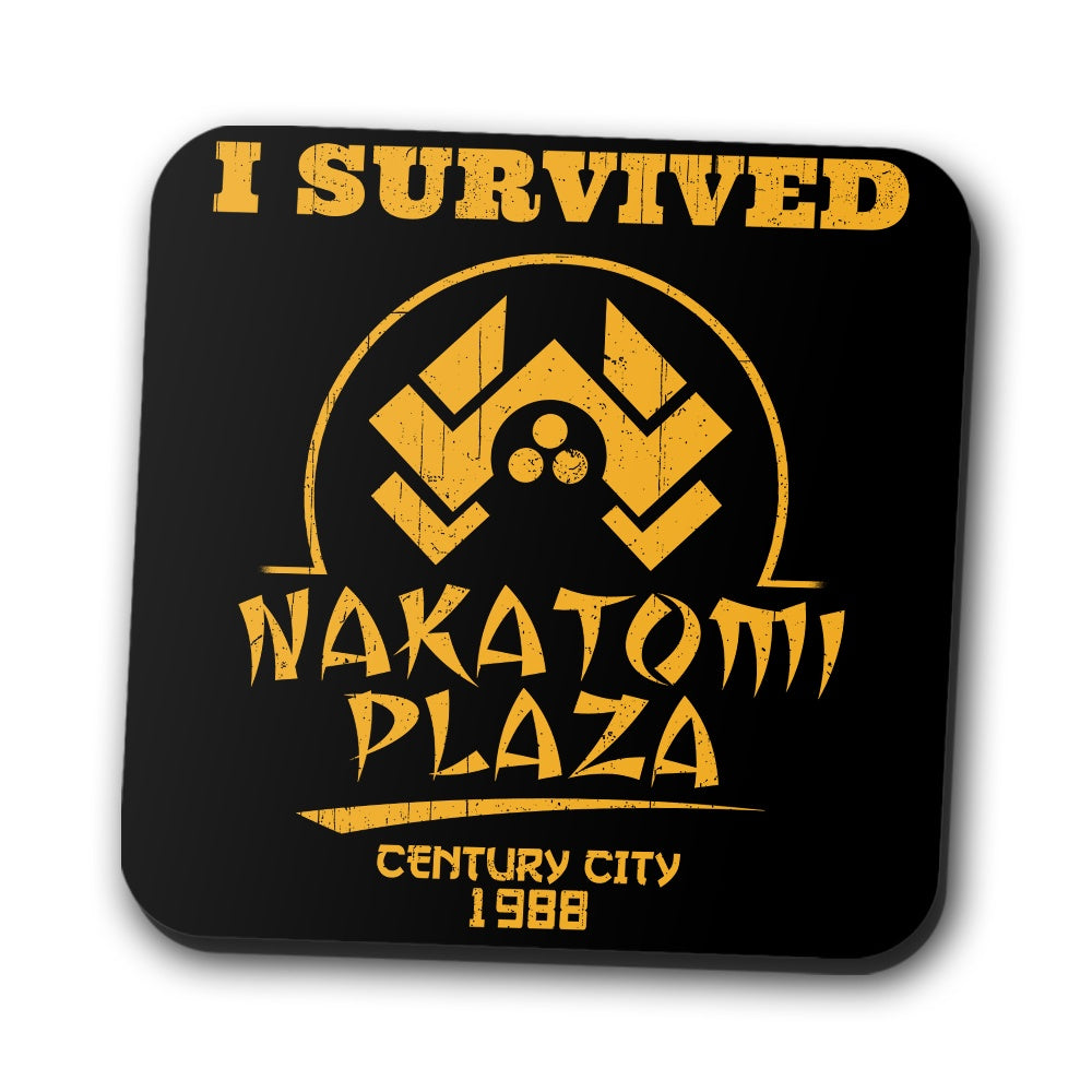 I Survived Nakatomi Plaza - Coasters | Once Upon a Tee