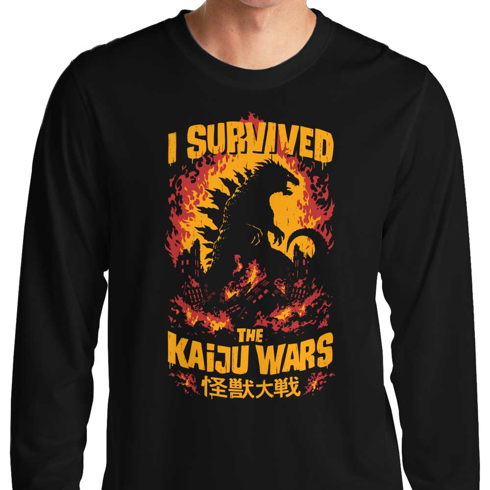 ad7305ed7 I Survived the Kaiju Wars - Long Sleeve T-Shirt | Once Upon a Tee