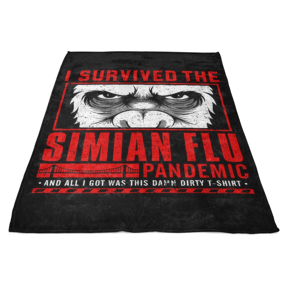 I Survived the Simian Flu - Fleece Blanket